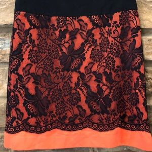 The Limited Skirt Black scallop Lace overlay 2